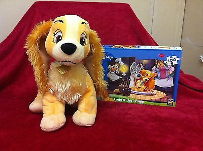Disneys Lady And The Tramp Soft Toy 'lady' Disney Store Exclusive Plus Jigsaw