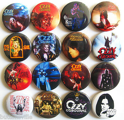 OZZY OSBOURNE Pins Buttons Badges Set Blizzard of Ozz Ultimate Sin Lot of 16
