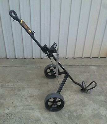 "Golf buggy Brosman Mega Lite black powder coated frame 9 1/2"" wheels"