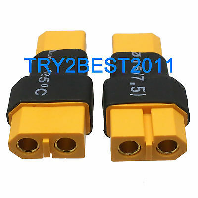 2pcs XT30 Male to XT60 Female Wireless Connector Adapter Turnigy Drone FPV