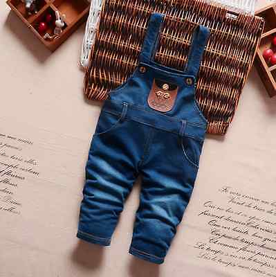 Baby toddler boy girl Kids jeans rompers bottoms pants Jumpsuit Cotton Clothes 7