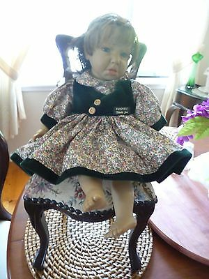 Vintage doll and chair
