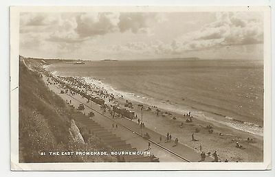 Old Postcard, The East Promenade, Bournemouth, Posted 1931