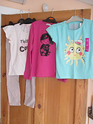 Girls Jeans And Tops (4 Items)  Age 6-7 Years.
