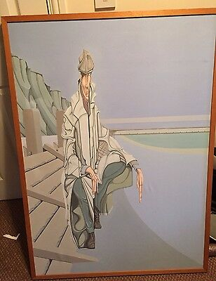 Paul Copsey Oil On Canvas Painting Of Modern Surrealism Art 1985