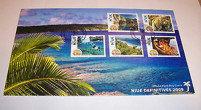 First Day of issue. Niue. 2009. Definitives. 2 covers. 11 stamps