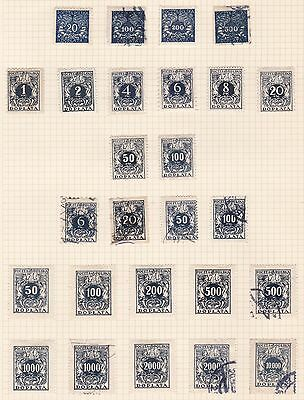 Poland  1920 - 24   Various  Postage Dues  Mh &  Used