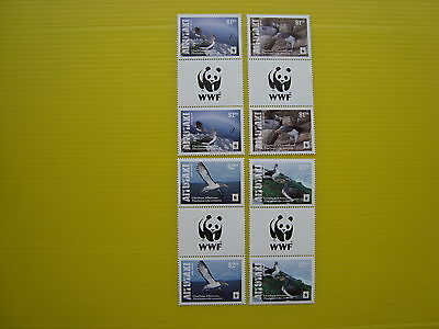 Wwf Aitutaki 2016, Chatham Albatross, G.p (Wwf Logo On Gutter) , Perforated, Mnh