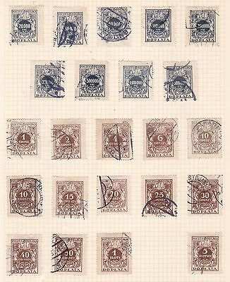 Poland  1924 - 39   2Pages   Various  Postage Dues  Used