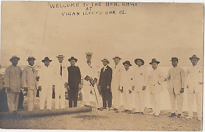 1900s Arrival of Hon. Khwi Chinese ? at Vigan Iocos Philippines Photo PC China ?