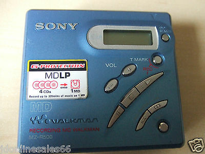 Sony Walkman MD MZ-R500 Personal MiniDisc Player Recorder MD Mini Disc