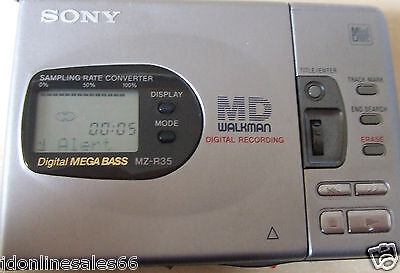 Sony MZ-R35 Portable MiniDisc Recorder Player In Good Condition No Accessories