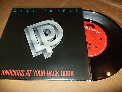 """Deep Purple """"knocking At Your Back Door/wasted Sunsets"""" 7"""" Australia Ultra Rare"""