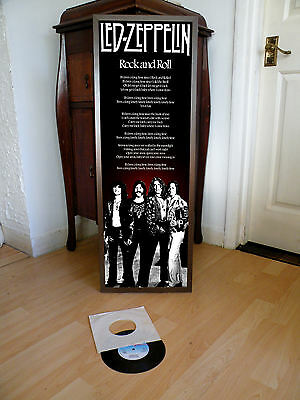 Led Zeppelin Rock And Roll Promotional Poster Lyric Sheet,heavy Rock,