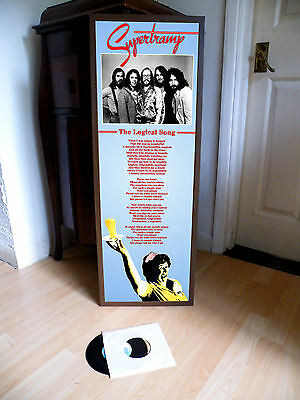 Supertramp The Logical Song Promotional Poster Lyric Sheet,country Rock