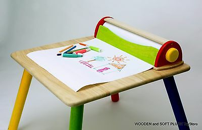*NEW wooden ART paper roll DISPENSER and CUTTER eductional DRAWING and SKETCHING