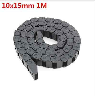 10 x 15mm Plastic Cable Drag Chain Wire Carrier Length 1000mm For CNC Router Mas