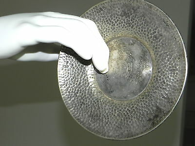 Stunning Hammered Silver Bowl Plate Marine Type