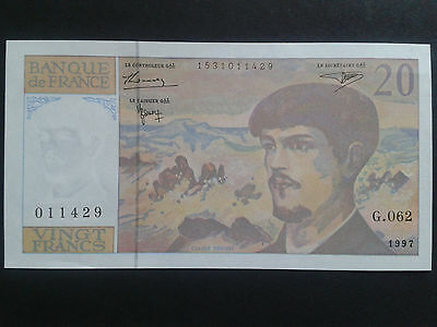 France Billet De 20 Francs Debussy 1997 Neuf.