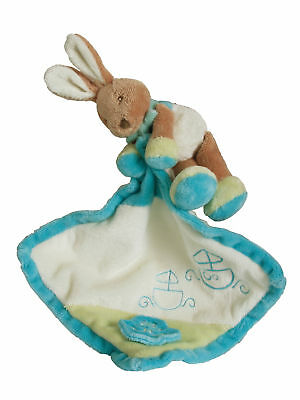 BABY SAFE soft plush toy BUNNY RABBIT doudou security comforter blanket *NEW