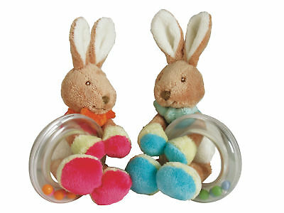 New Baby Infant Soft Hand Loop Bunny Rabbit Rattle Plush Toy Deveopmental Toy