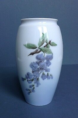 Bing & Grondahl B&G Vase with Wisteria Floral Pattern, 1962 - 1972