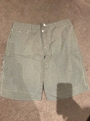 Men's Topman Striped Shorts Waist 34