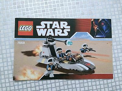 LEGO STAR WARS Instructions Only - 7668 - Fab!