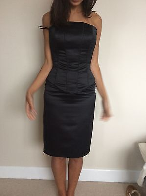 Black Custom Made Bustier/ Corset Top And Skirt Size 6