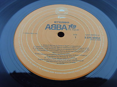 ABBA THE ALBUM 1st Press UK LP TWO PLAYS 1977 PRESS SHOREWOOD SLEEVE