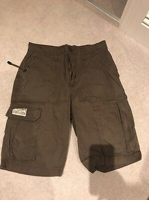 Men's Brown Next Combat Shorts Waist 32