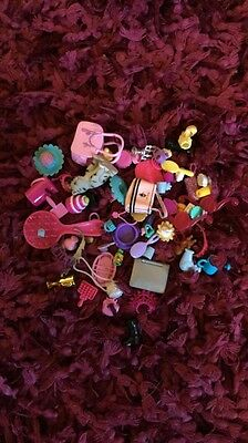 Bundle Lot Of Barbie Doll accessories - Laptop, Brush, Mirrors, Jewellery, Bags