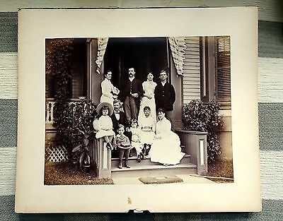 LATE 19th CENTURY ?  WEALTHY USA FAMILY TWO LARGE VINTAGE ORIGINAL PHOTOS
