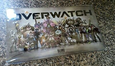 Overwatch Game Metal Blister Plate Brand New And Sealed