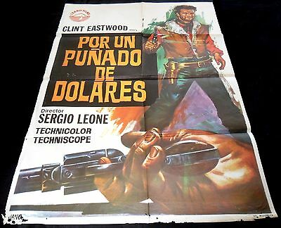 1964 A Fistful Of Dollars ORIGINAL Spain 73' 1sh A1 POSTER Sergio Leone Style