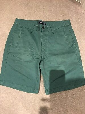 Men's Topman Green Shorts Size 32