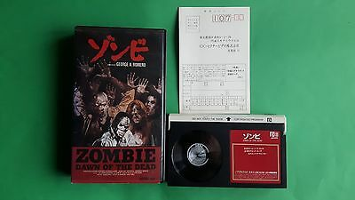 Dawn of the dead Japanese Betamax tape, George Romero