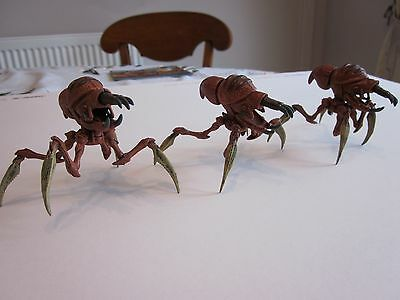 Starship Troopers Miniatures 3 Well painted Blaster Bugs  Warhammer 40K