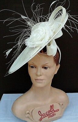 Ladies Whiteley/Maddox Headpiece in Ivory Wedding/Races/Mother of the Bride.