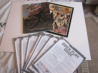 Starship Troopers Miniatures Rulebook and Arachnid Army Book  Warhammer 40K