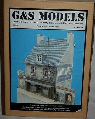 Normandy 1/35 French Shop Diorama G&s Models G1001