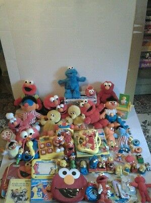 Elmo cookie monster bert ernie sesame street tmx huge collection lot vintage rar