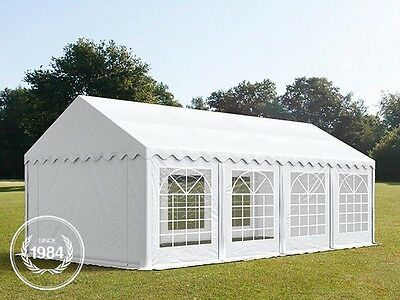 4x8m Heavy Duty PVC Gazebo Marquee, Bolt Steelconstruction, Party Tent, white