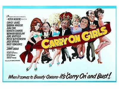 """Carry on Girls 1973 16"""" x 12"""" Reproduction Movie Poster Photograph"""