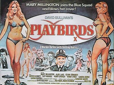 "Playbirds 1978 16"" x 12"" Reproduction Movie Poster Photograph"