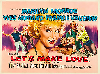 "Lets Make Love 1960 16"" x 12"" Reproduction Movie Poster Photograph"