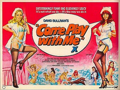 "Come Play with Me 1977 16"" x 12"" Reproduction Movie Poster Photograph"