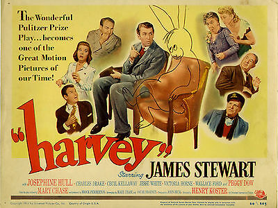 """Harvey 1950 16"""" x 12"""" Reproduction Movie Poster Photograph"""