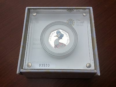 Beatrix Potter Jemima Puddle-Duck Silver Proof 50p Coin with COA