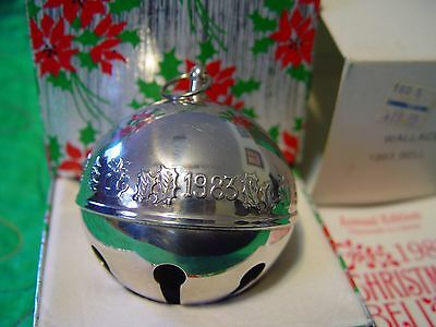 Wallace Silver Plated Christmas Sleigh Bell 1983 Christmas Candle w/Box Sleeve